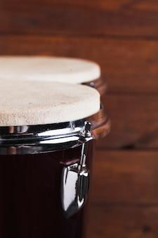 Close-up bongo drums
