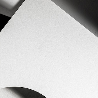 Close-up branding wit materiaal met licht