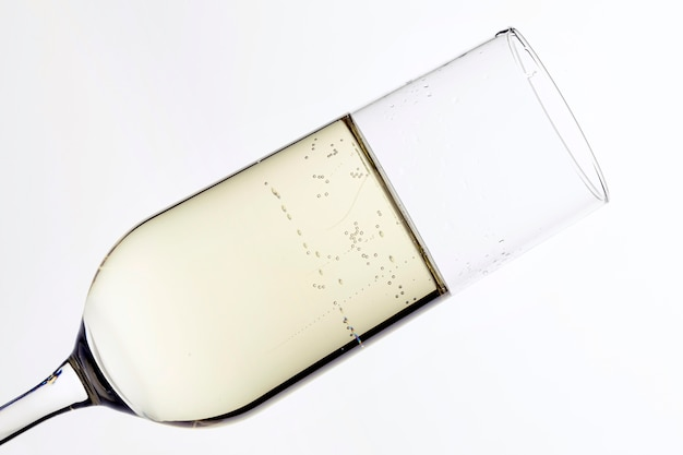 Close-up champagne glas