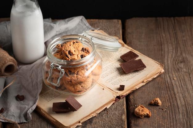 Close-up chocoladekoekjes