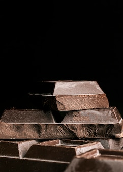 Close-up chocoladereep pleinen