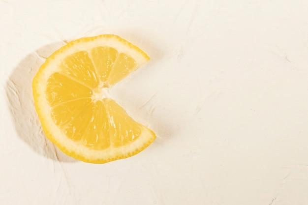Close-up citrus schijfje citroen