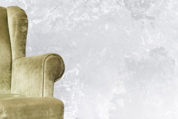 Close-up comfortabele fauteuil