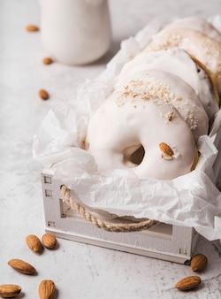 Close-up donuts met glimmertjes