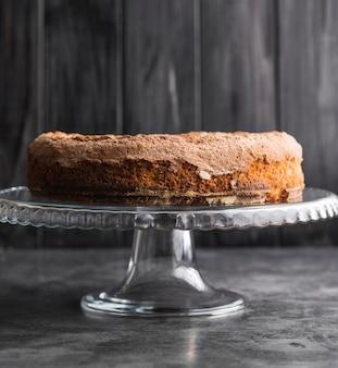 Close-up eigengemaakte smakelijke cake op de lijst