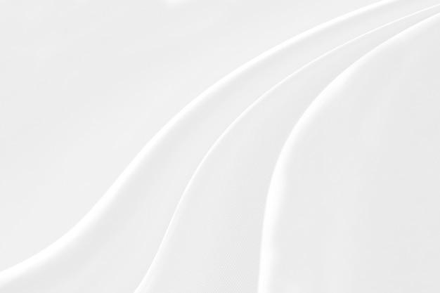 Close-up elegant verfrommeld van witte de doekachtergrond en textuur van de zijdestof.