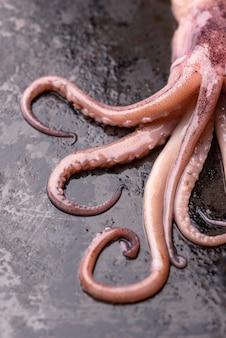Close-up exotische octopus zeevruchtenschotel
