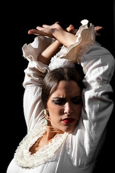 Close-up flamenco vrouw danser