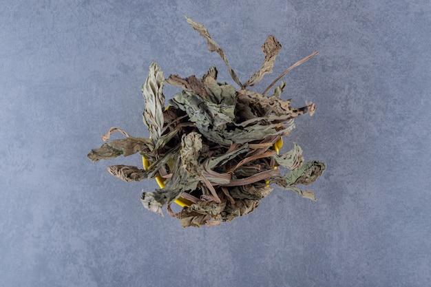 Close-up foto van gedroogde bladeren