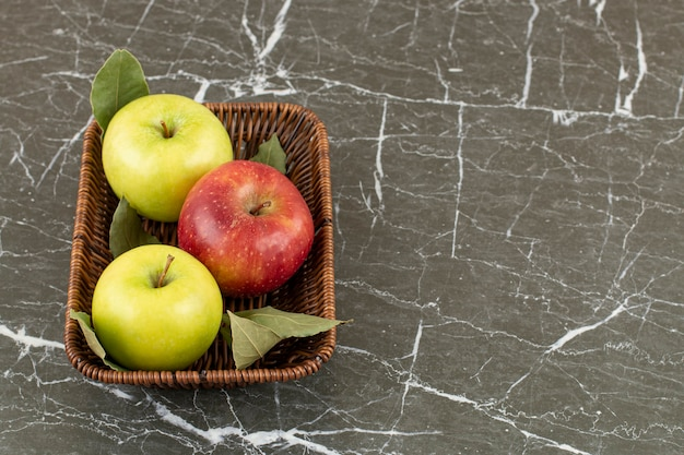 Close-up foto van verse biologische appels.