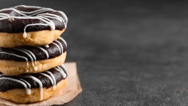 Close-up geglazuurde donuts
