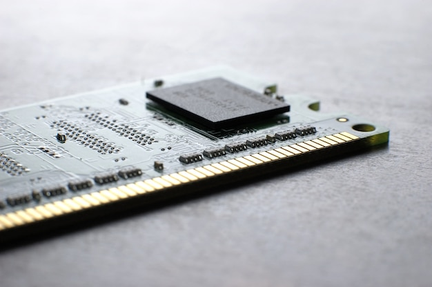 Close-up geheugenkaart met smd-chip