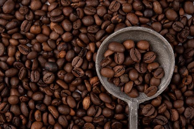 Close-up geroosterde koffiebonen