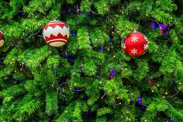 Close-up geschotene chrismasboom voor achtergrond.