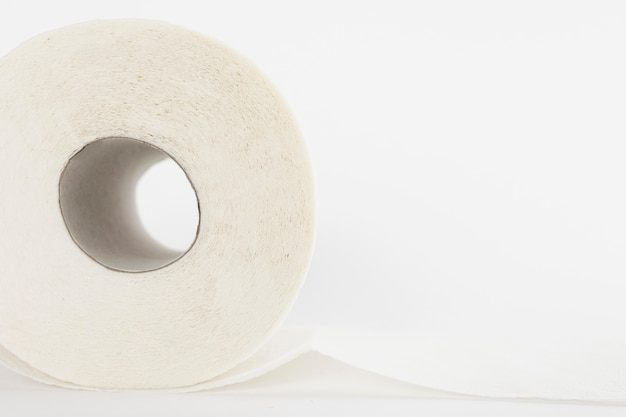 Close-up gewoon wc-papier rollen