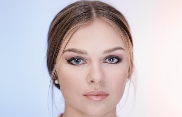 Close-up gezicht van een jong meisje