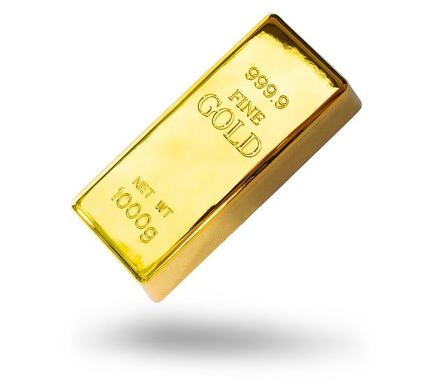 Close-up glanzend een goudstaaf 1 kg