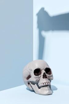 Close-up griezelig halloween-skelet