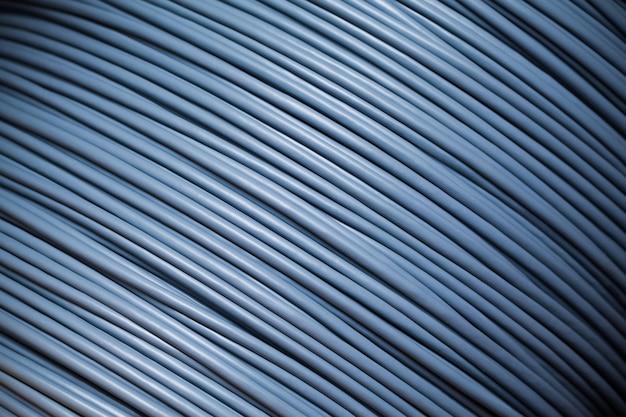 Close-up grote streng met grijze draad