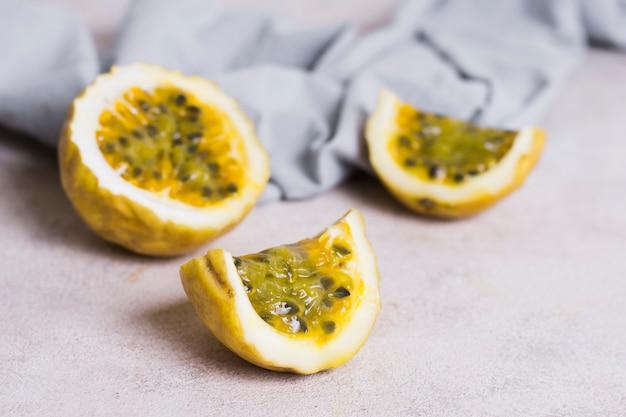 Close-up heerlijke guave klaar om te worden geserveerd