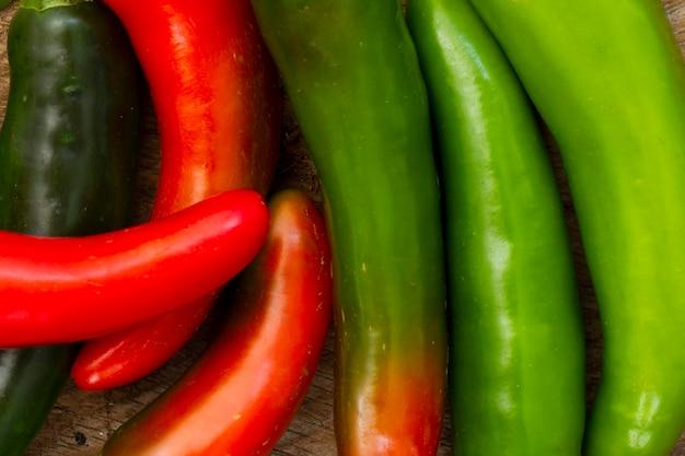 Close-up hete chili pepers