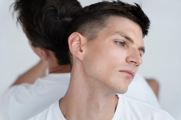Close-up homoseksuele mannen poseren