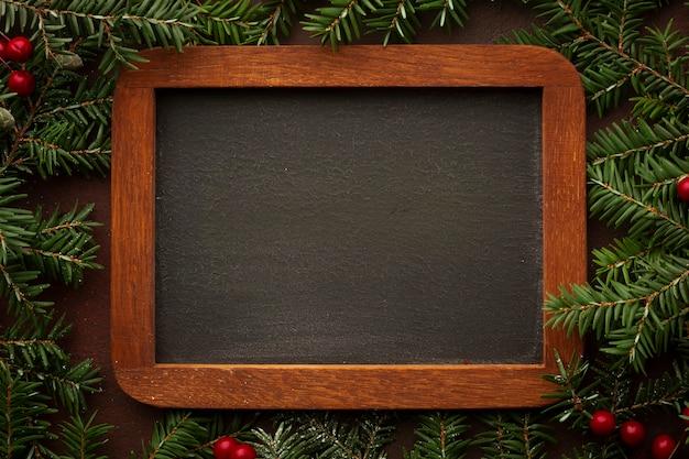 Close-up houten frame met model