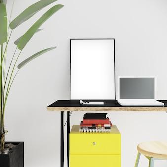 Close-up kantoorruimte met frame