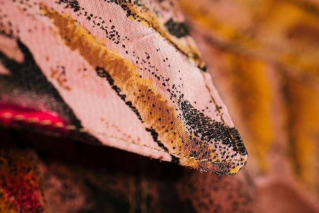 Close-up kleurrijke vintage kraag