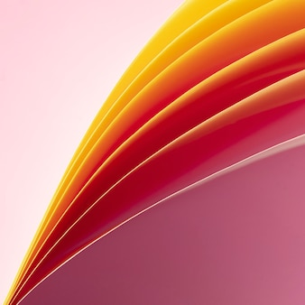 Close-up lagen opgerold papier