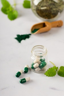 Close-up medische behandeling op de tafel