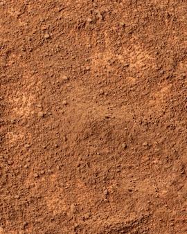 Close-up mengsel van kleipoeder