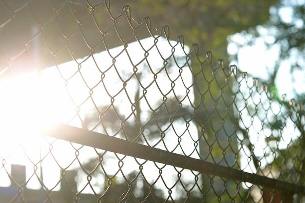 Close-up metalen hek
