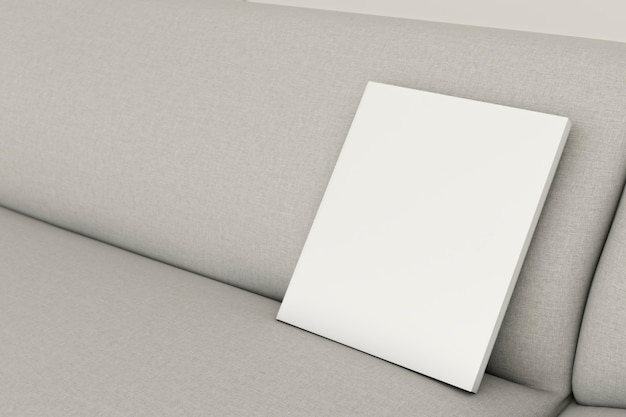Close-up minimalistische interieur sofa met frame