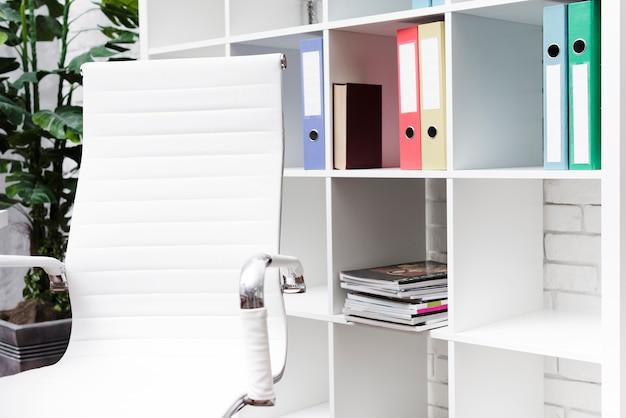 Close-up modern minimalistisch bureau