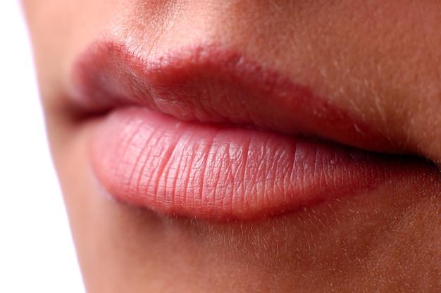 Close-up mooie vrouwelijke mond