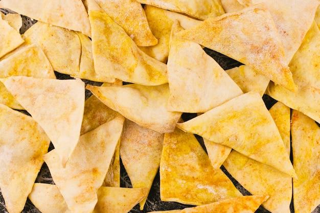 Close-up nachos achtergrond