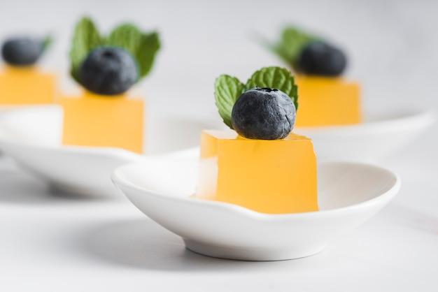 Close-up plaat met dessert