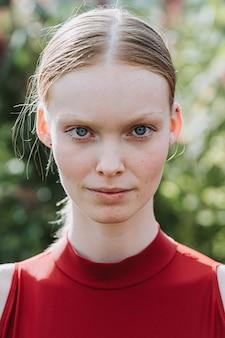 Close-up portret van ballerina vrouw