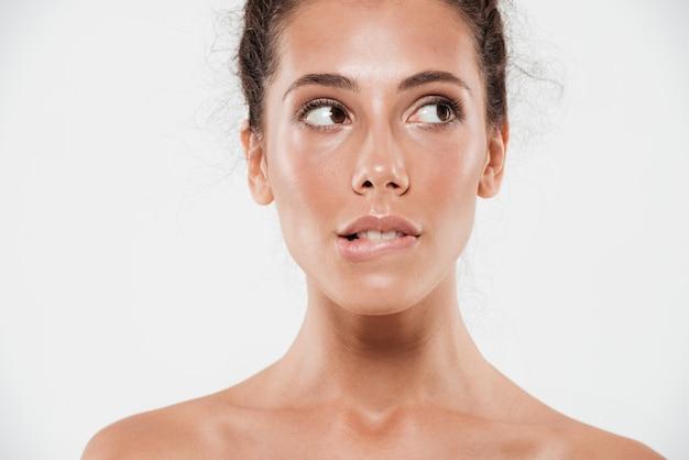 Close-up portret van een jonge mooie vrouw
