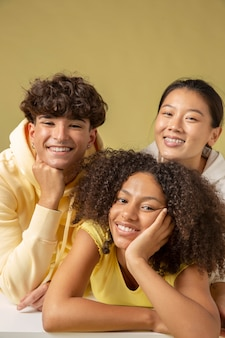 Close-up portret van mooie tieners