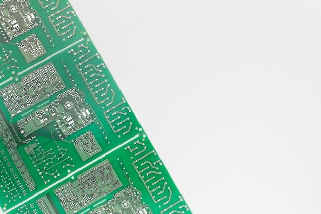 Close-up printplaat met kopie ruimte