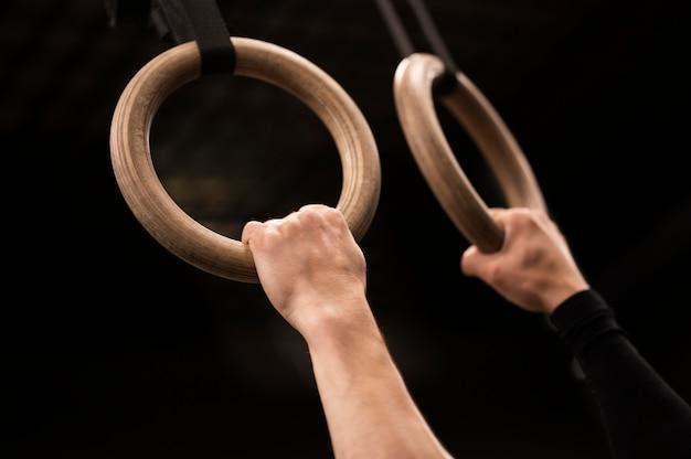 Close-up ringen voor training
