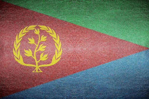 Close-up scherm eritrea vlag concept op pvc-leder voor achtergrond