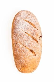 Close-up shot van brood. geïsoleerd op een witte achtergrond.