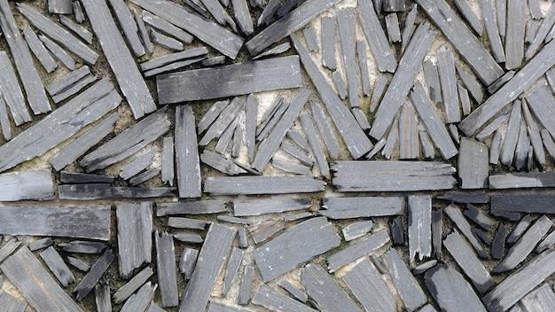 Close-up shot van de steentextuur op de grond