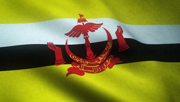 Close-up shot van de vlag van brunei