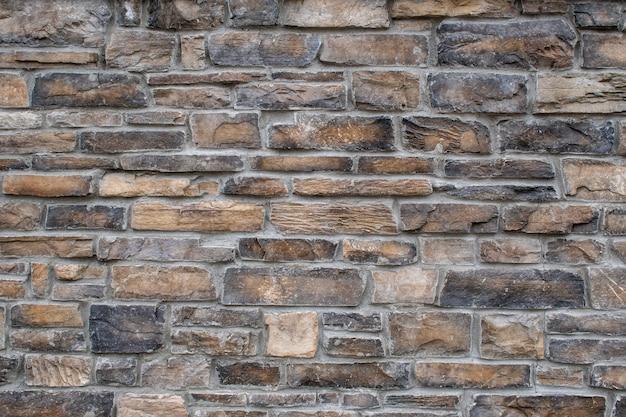 Close-up shot van een bakstenen muur textuur achtergrond
