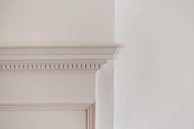 Close-up shot van een witte muur