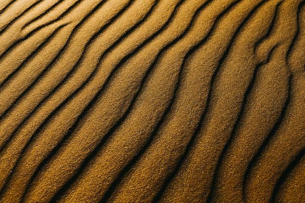 Close-up shot van zandduinen op een strand